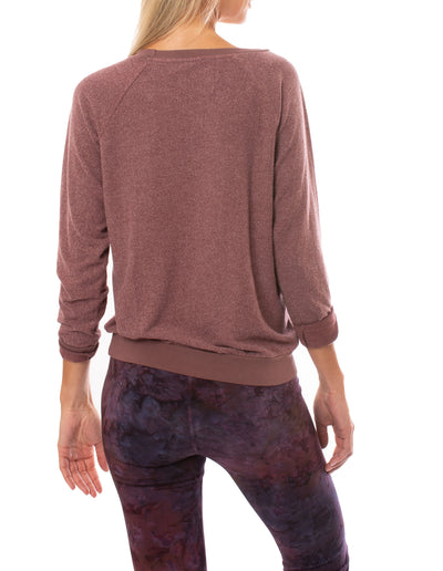 Sol Angeles - Day Off Pull Over Sweatshirt (RW19-1116, Wine) alt view 2