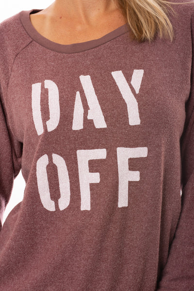Sol Angeles - Day Off Pull Over Sweatshirt (RW19-1116, Wine) alt view 4