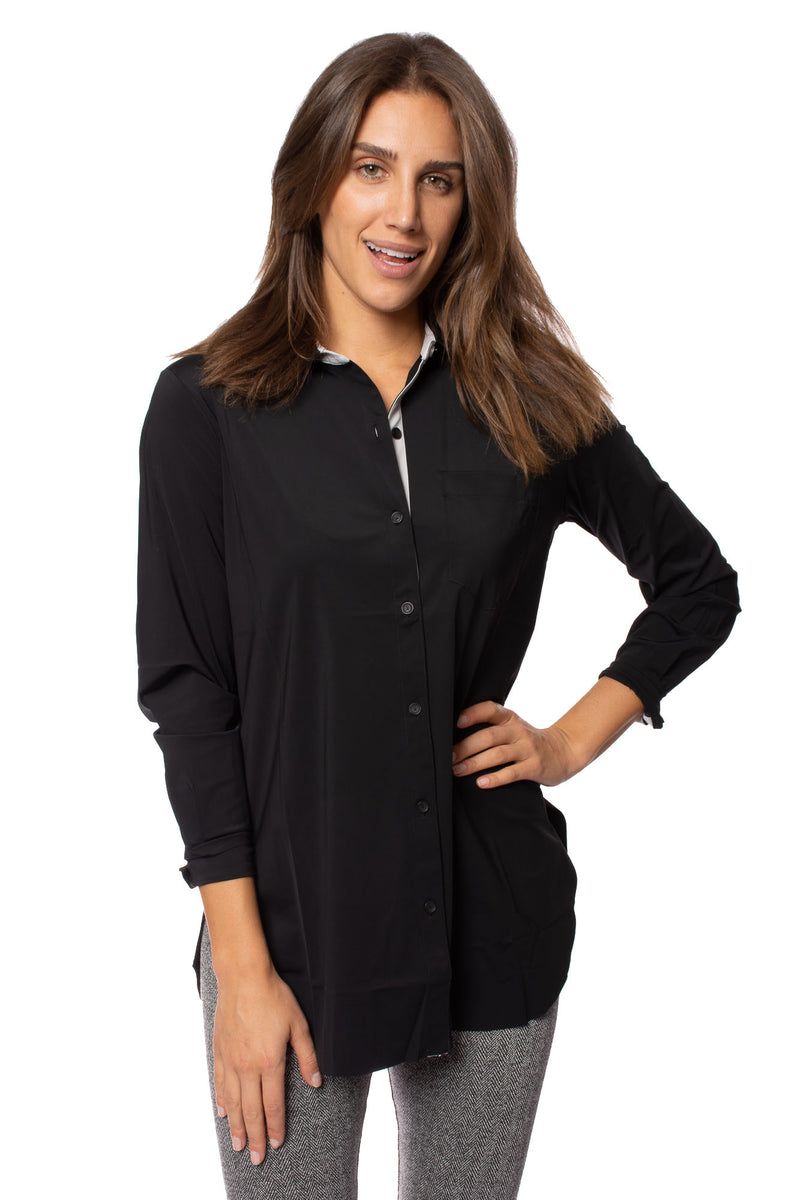 Lysse - Black Button Up Shirt (2618, Black)