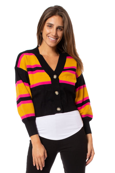 To The Loyal - Bubble Sleeve Cardigan (tmk1053, Black) alt view 6