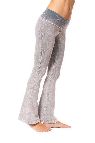 Hard Tail Forever - Contour Roll Down Boho Bell Bottom Flare Pant (W-598, Tie-Dye MW11) alt view 1