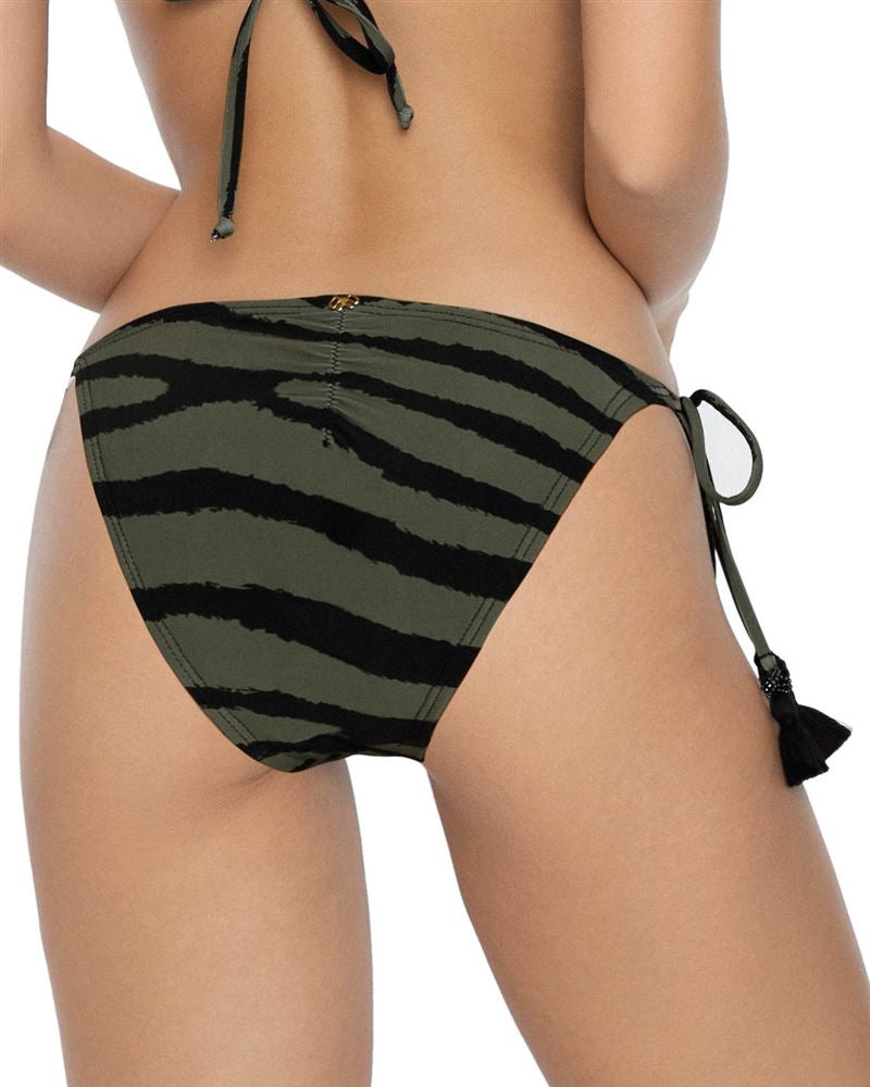 PQ Swim Beaded Tiger Print Tie Side Bottom