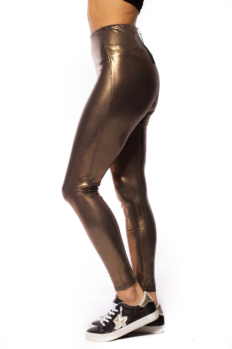 Lysse - Foil High Waste Leggings (2302, Copper)