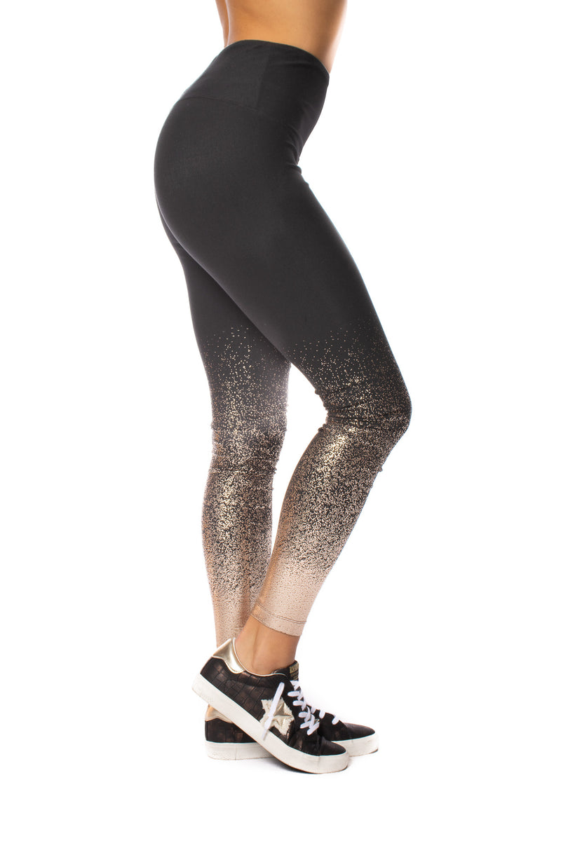 Lysse - Cotton Foil Copper Leggings (2337, Black & Copper)