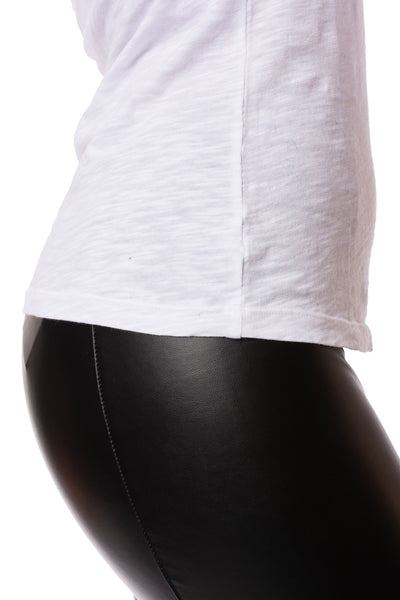 Bobi - Long Sleeve V Neck (54A-26185, White) alt view 3