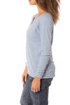 Bobi - Split Neck Raglan (54A-36119, Light Sky Blue) alt view 1