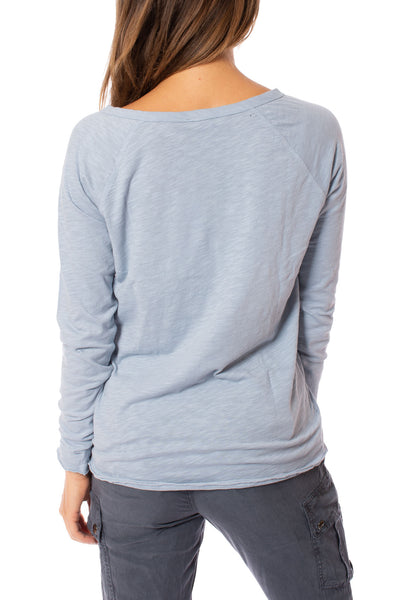 Bobi - Split Neck Raglan (54A-36119, Light Sky Blue) alt view 2