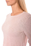 Hard Tail Forever - Long Sleeve Crop Top (SLUB-37, Crushed Rose) alt view 5