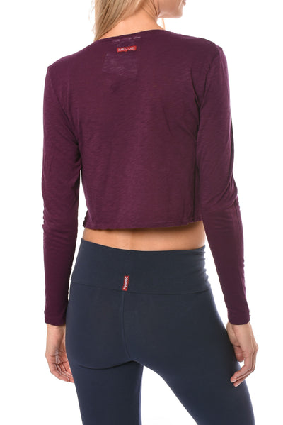 Hard Tail Forever - Long Sleeve Crop Top (SLUB-37, Jam) alt view 2