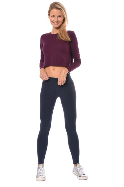 Hard Tail Forever - Long Sleeve Crop Top (SLUB-37, Jam) alt view 6