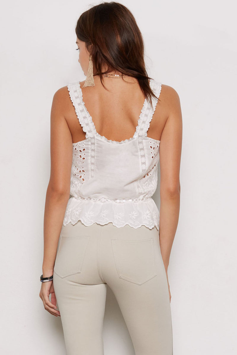 Tart Collections - Isabella Lace Tank Top (T60180, Ivory)