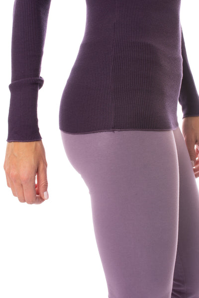 Hard Tail Forever - Thermal Long Sleeve Turtle Neck (TH-35, Deep Purple) alt view 4