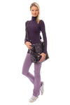 Hard Tail Forever - Thermal Long Sleeve Turtle Neck (TH-35, Deep Purple) alt view 6