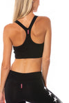 Hard Tail Forever - Cropped Swimmers Tank (W-556, Black)