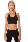 Hard Tail Forever - Cropped Swimmers Tank (W-556, Black) alt view 3