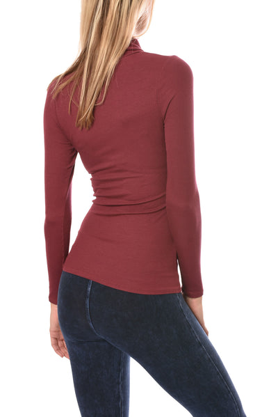 LA Made - Britt Turtle Neck (S21009, Wild Berry) alt view 2