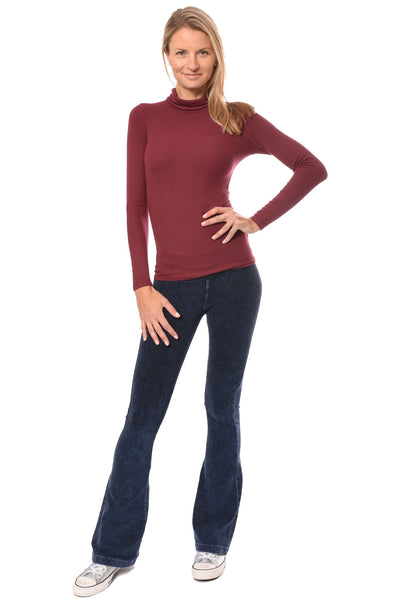 LA Made - Britt Turtle Neck (S21009, Wild Berry) alt view 6