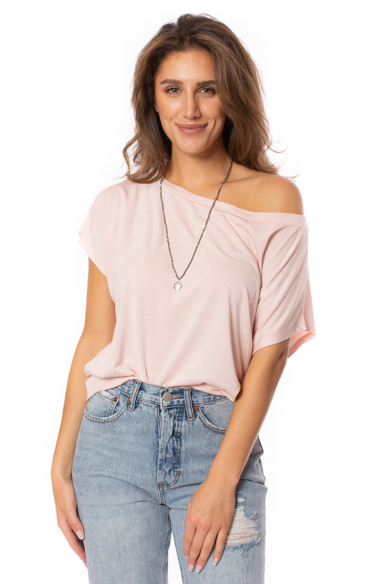 Veronica M. - Short Sleeve Banded Blouse (TF-1907, Rose)