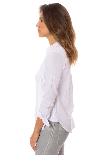 Bobi - Long Sleeve Button Down Shirt (51A-51147, White) alt view 1