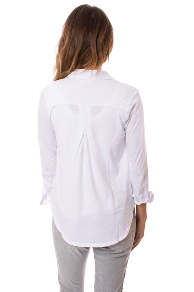 Bobi - Long Sleeve Button Down Shirt (51A-51147, White) alt view 2