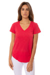 Bobi - V Neck Curved Hem (51A-26168, Chili)