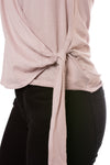 Bobi - S/S Wrap Shirt (51A-60038, Light Pink) alt view 4