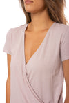 Bobi - S/S Wrap Shirt (51A-60038, Light Pink) alt view 5