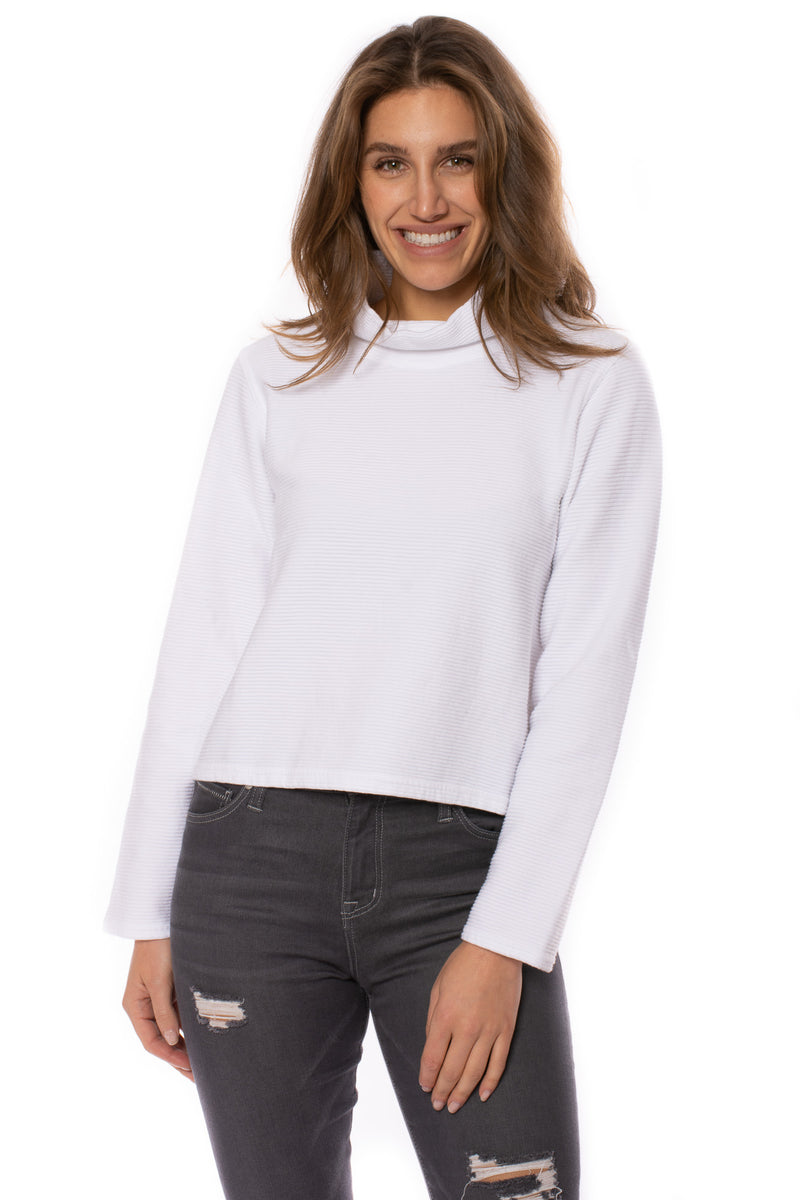 Hard Tail Forever - Cowl Neck Pullover (DL-14, White)