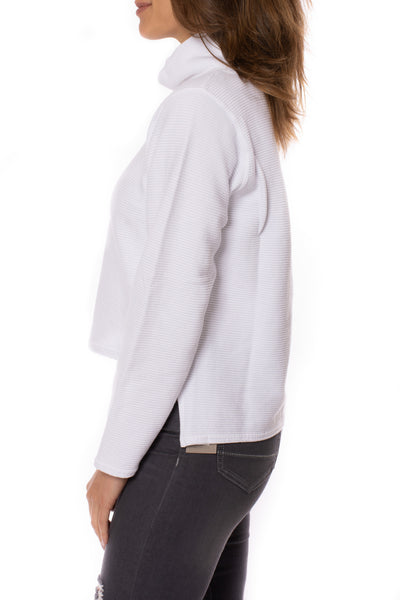 Hard Tail Forever - Cowl Neck Pullover (DL-14, White) alt view 2