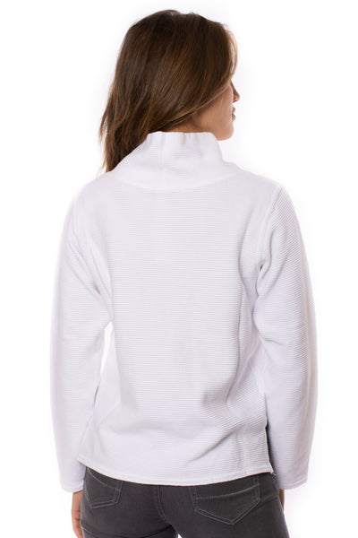 Hard Tail Forever - Cowl Neck Pullover (DL-14, White) alt view 3