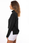 Hard Tail Forever - Cowl Neck Pullover (DL-14, Black) alt view 2
