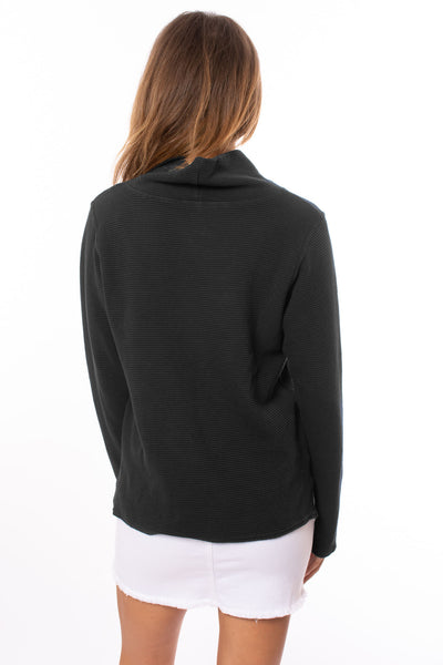 Hard Tail Forever - Cowl Neck Pullover (DL-14, Black) alt view 3