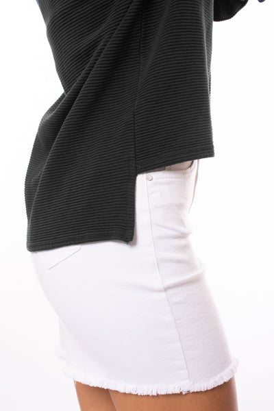 Hard Tail Forever - Cowl Neck Pullover (DL-14, Black) alt view 4