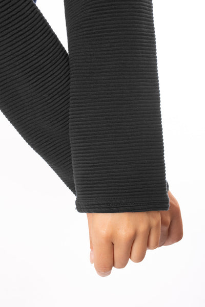 Hard Tail Forever - Cowl Neck Pullover (DL-14, Black) alt view 5
