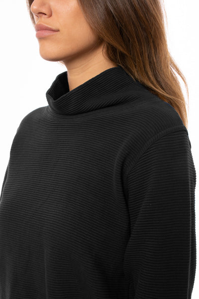 Hard Tail Forever - Cowl Neck Pullover (DL-14, Black) alt view 6