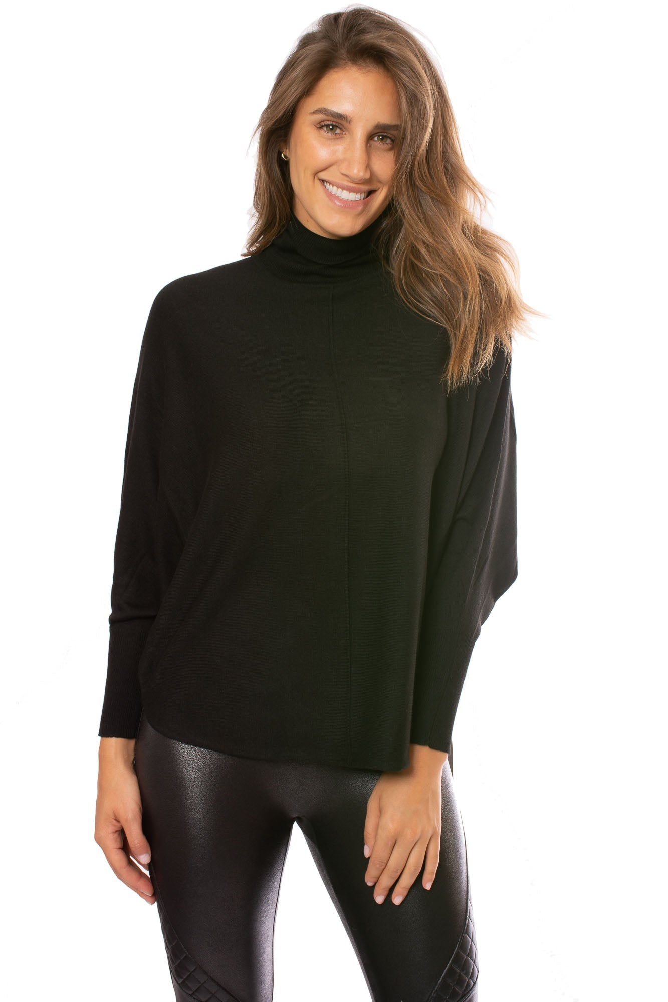 Kerisma - Black Cashmere Turtle Neck Sweater (G550G, Black)