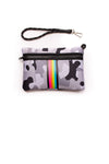 Haute Shore - Elite Neoprene Tote Bag W/Tethered Removable Wristlet (Greyson, Grey Camo w/Pink,Orange,Green,Blue Stripe) alt view 4