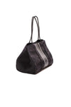 Haute Shore - Elite Neoprene Tote Bag w/Zipper Wristlet Inside (Greyson, Black Camo w/Black & White Stripe) alt view 1