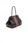 Haute Shore - Bello Neoprene Tote Bag w/Zipper Wristlet Inside (Greyson, Black w/Green & Red Stripe) alt view 1
