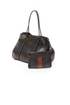 Haute Shore - Bello Neoprene Tote Bag w/Zipper Wristlet Inside (Greyson, Black w/Green & Red Stripe) alt view 3