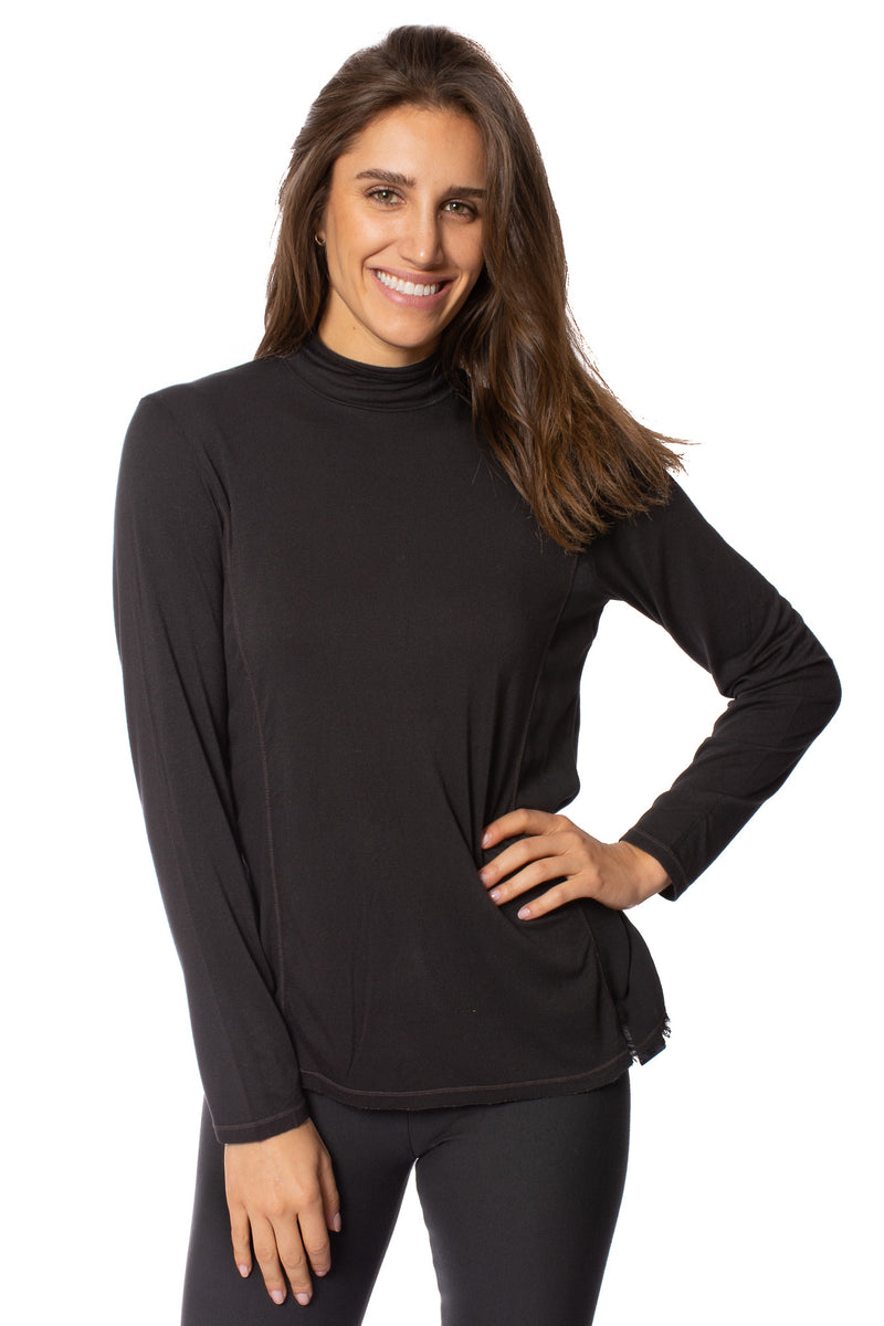 XCVI - Sentra Turtleneck Shirt (13840, Black)