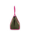 Haute Shore - Sweet Neoprene Tote Bag w/Tethered Removable Wristlet (Greyson, Evergreen w/Pink Camo). alt view 2