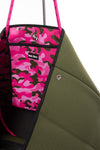 Haute Shore - Sweet Neoprene Tote Bag w/Tethered Removable Wristlet (Greyson, Evergreen w/Pink Camo). alt view 5