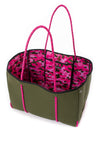 Haute Shore - Sweet Neoprene Tote Bag w/Tethered Removable Wristlet (Greyson, Evergreen w/Pink Camo). alt view 6