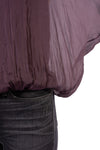 Made In Italy - Sheer Flow Top With Bow Tie & Under Cami (8855, Purple) alt view 5