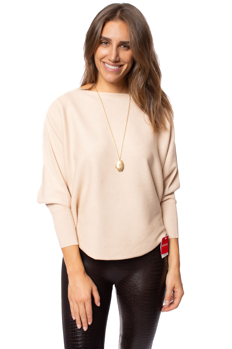 Kerisma - Dolman Deep V Neck Ribbed Sweater (g550, Cream)
