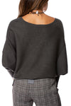 Kerisma - Dolman Deep V Neck Ribbed Sweater (G550V, Charcoal) alt view 3