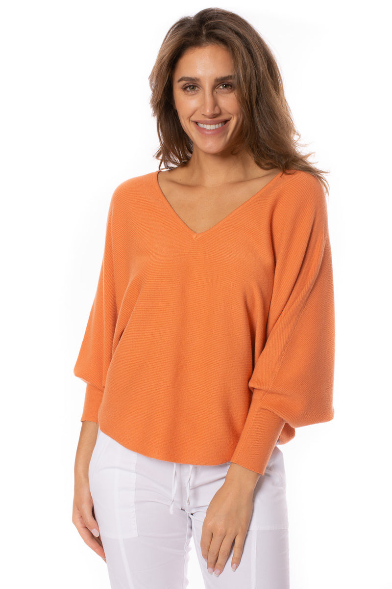 Kerisma - Ribbed V Neck Sweater (G550V, Apricot)
