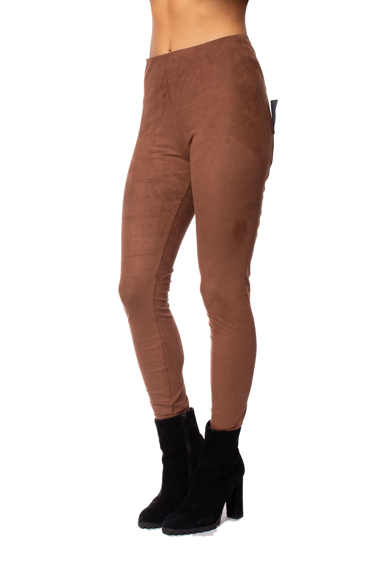 Lysse - High Waist Suede Pants (1730, Dark Brown)