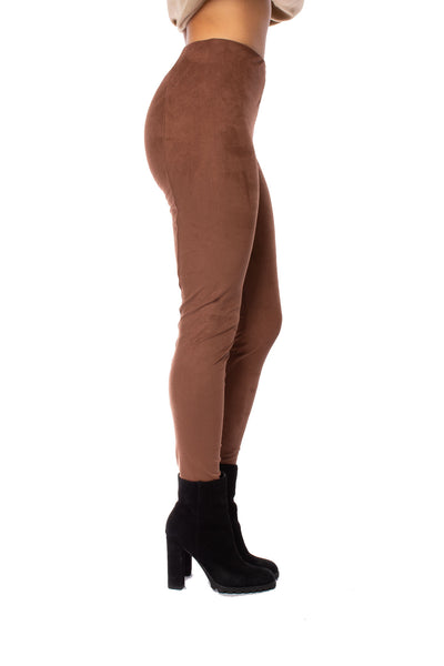 Lysse - High Waist Suede Pants (1730, Dark Brown) alt view 1